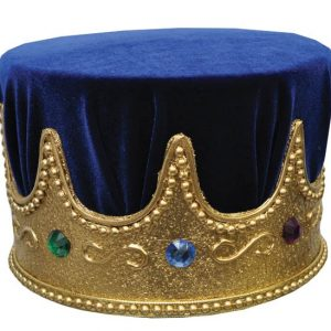 Adult Crown Jewel Royal Crown with Blue Turban