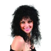 Adult Curly Black Wig