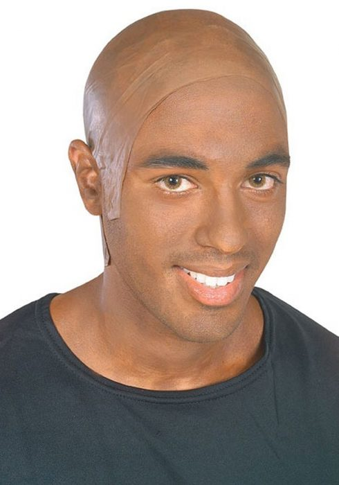 Adult Dark Bald Wig