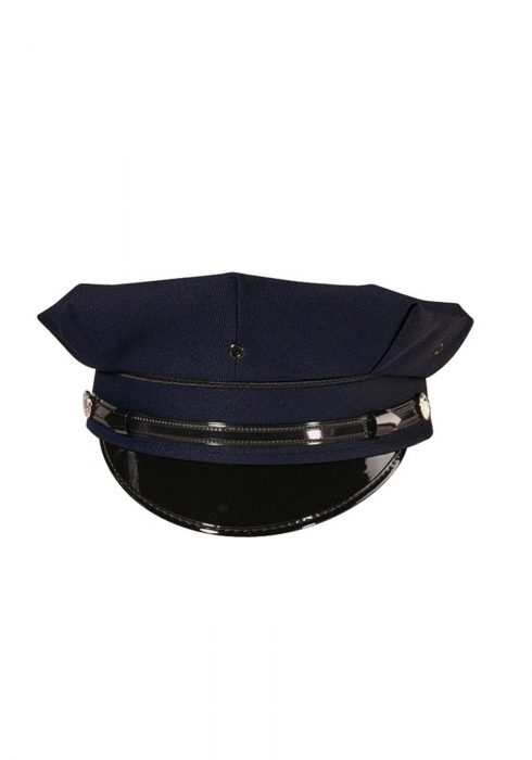 Adult Deluxe 8 pt. Navy Blue Police Hat