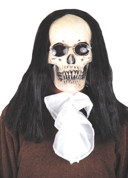 Adult Deluxe Black Skull Mask