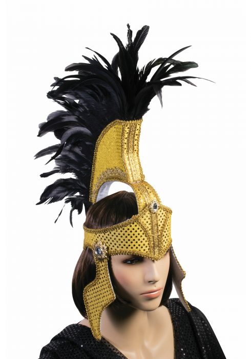 Adult Deluxe Gold Fabric Gladiator Helmet