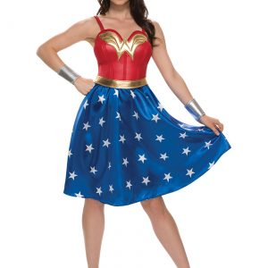 Adult Deluxe Long Dress Wonder Woman Costume