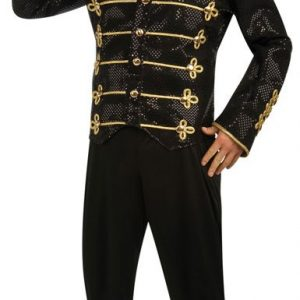 Adult Deluxe Michael Jackson Black Military Jacket
