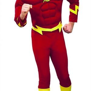 Adult Deluxe Muscle Chest Flash Costume