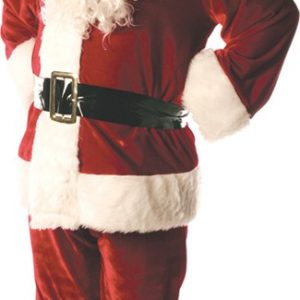 Adult Deluxe Santa Costume with Lining