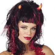 Adult Demoness Light Up Wig