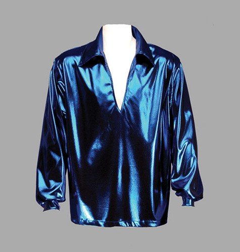 Adult Disco Shirt ? Blue