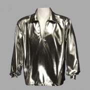 Adult Disco Shirt ? Silver