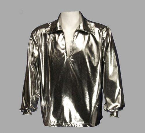 Adult Disco Shirt ? Silver
