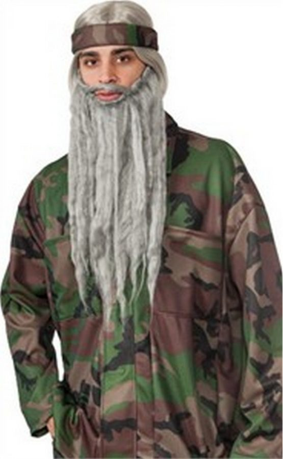 Adult Duck Hunter Gray Wig and Beard