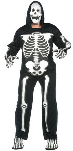 Adult EVA Skeleton Jumpsuit - Deluxe