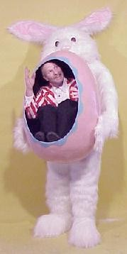 Adult Easter Bunny Illusion costume