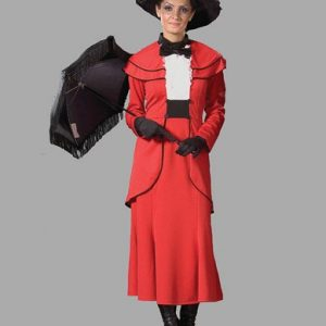 Adult English Nanny Costume ? Red