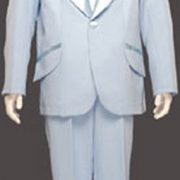 Adult Entertainer Tuxedo Costume - Light Blue