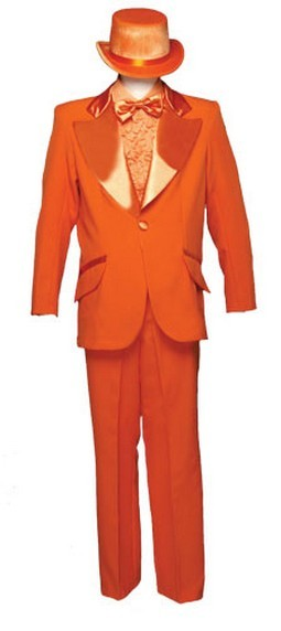 Adult Entertainer Tuxedo Costume - Orange