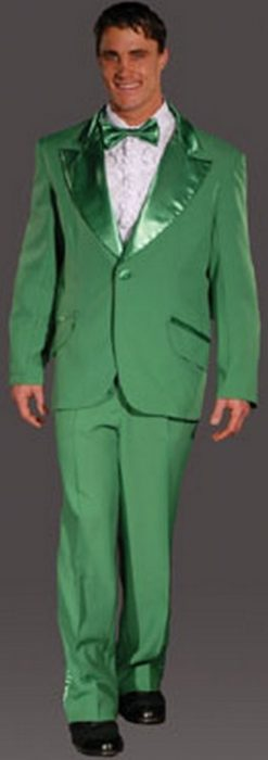 Adult Entertainer Tuxedo Costume - Sage