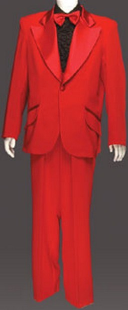 Adult Entertainer Tuxedo Costume - Scarlet