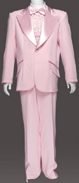 Adult Entertainer Tuxedo Costume - Soft Pink