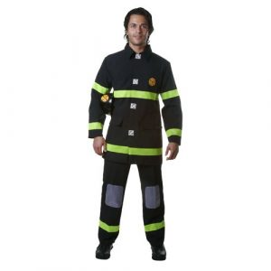 Adult Fire Fighter Costume - Black