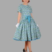 Adult Floral Dress Costume ? Blue