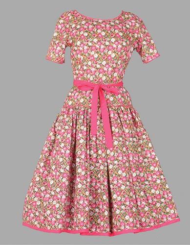 Adult Floral Dress Costume ? Pink