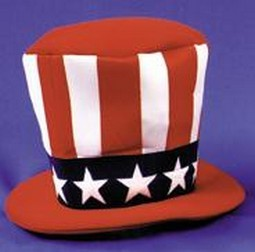Adult Foam Uncle Sam Hat