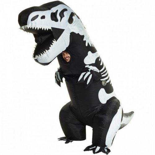 Adult Giant Skeleton T-Rex Inflatable Costume