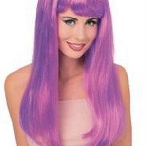 Adult Glamour Long Violet Wig