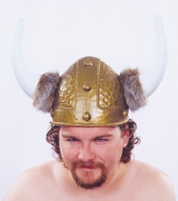 Adult Gold Viking Costume Helmet