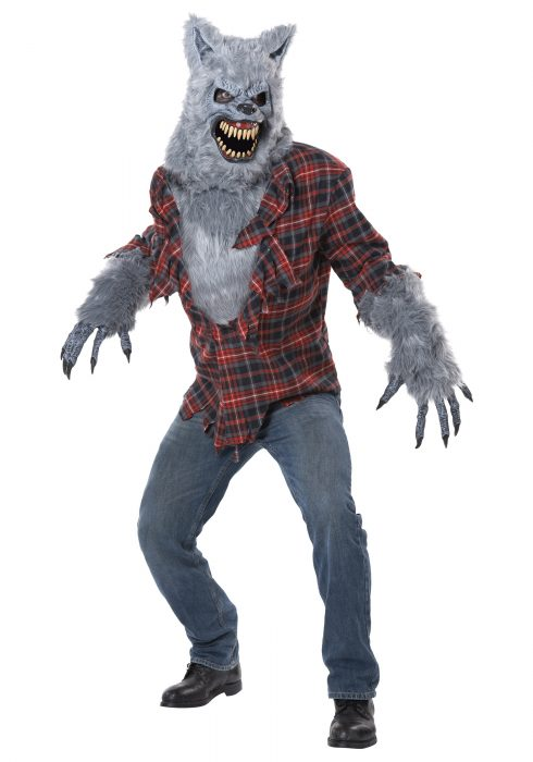 Adult Gray Lycan Werewolf Costume