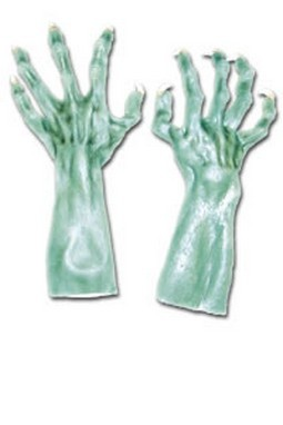 Adult Green Monster Costume Gloves
