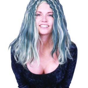 Adult Green/Grey Curly Wig