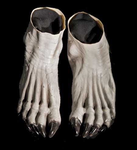 Adult Grey Werewolf Feet Shoes Accessory