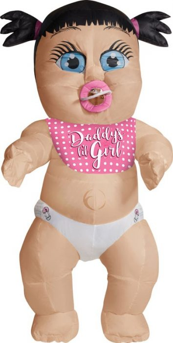 Adult Inflatable Baby Girl Costume