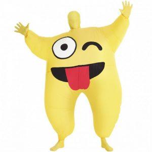 Adult Inflatable Cheeky Emoji Morph Suit