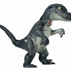 Adult Inflatable Velociraptor Dinosaur Costume