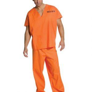 Adult Jailhouse Jumpsuit Costume - Male