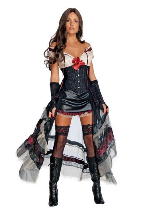 Adult Jonah Hex Lilah Costume - Black