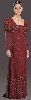 Adult Josephine Costume (Wine)