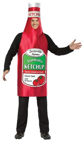 Adult Ketchup Bottle Costume