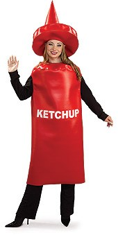 Adult Ketchup Costume