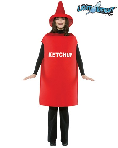Adult Ketchup Costume - Lightweight