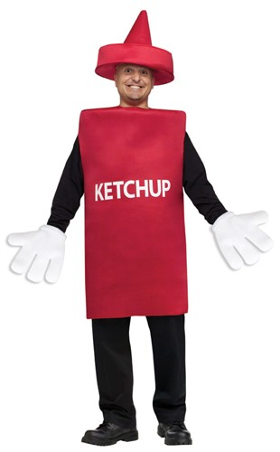 Adult Ketchup Costume - Squeeze Bottle