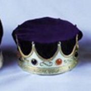 Adult King Costume Crown with Turban