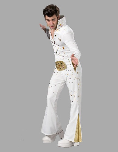 Adult King of Rock and Roll Costume White