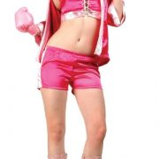 Adult Knock Out Sexy Boxer Costume - Fuchsia