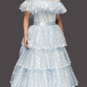 Adult Lacy Southern Belle Costume - Powder Blue