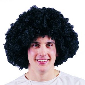 Adult Large Black Afro Wig