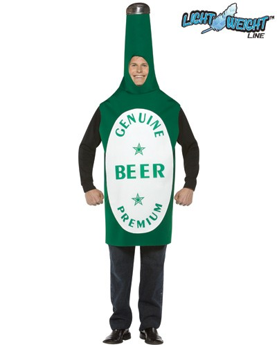 Adult Lightweight Beer Bottle Costume